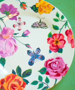 TALLRIK Fleurs - Mint