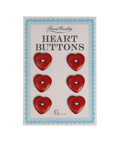 KNAPPAR 6-pack hearts
