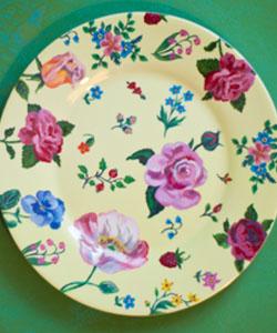 DESSERT TALLRIK Fleurs - Yellow