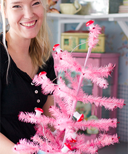 VINTAGE XMAS TREE pink